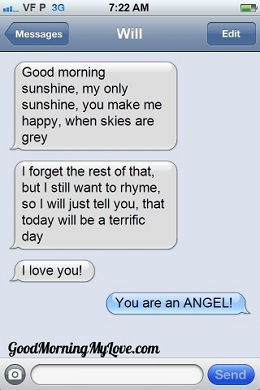 Sweet Funny Cute Good Morning Text Messages