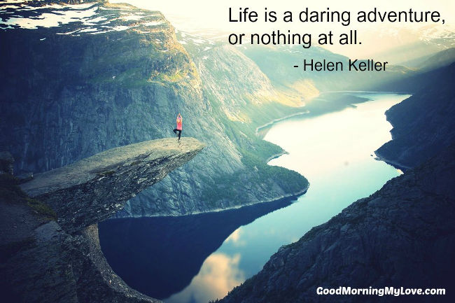 Good Morning My Love Quotes Helen Keller