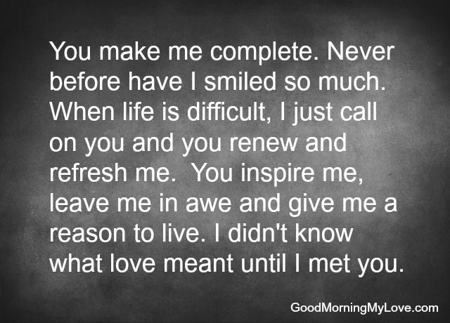 You Complete Me Love Quotes For Him ...