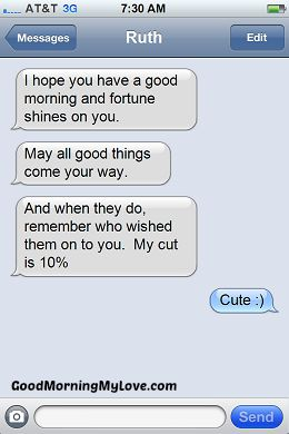 Cute Good Morning sms messages_Funny Good Morning sms Messages 1