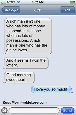 Cute Good Morning Text Messages To Send To Your Girlfriend