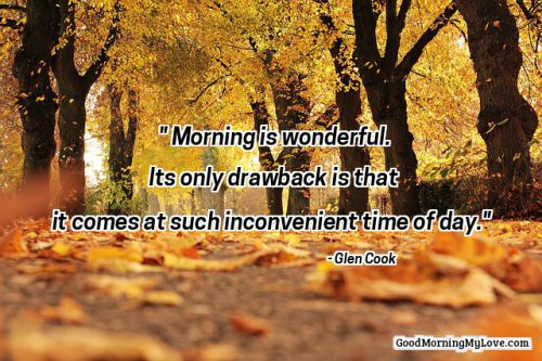 good morning quotes trees