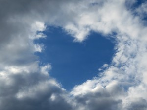 Good Morning Love Wallpaper_Heart Shaped Cloud