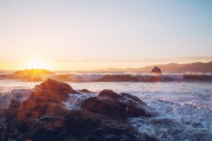 Good Morning Wallpapers free download_Sunrise over Sea