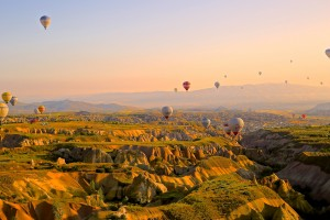 Wallpaper of good morning_Hot Air Balloons